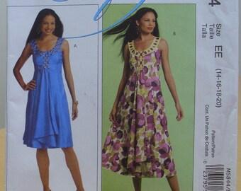 McCall's 5844 Scoop neck sleeveless flared dress 14-20 UNCUT