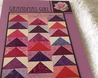 """Paper Pattern for a quilt  called Grandma's Girl by Villa Rosa Designs 54"""" x 72"""""""