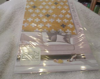 """Paper Pattern for a quilt called Plus It's Simple by Zen Chic for Moda 65"""" square"""