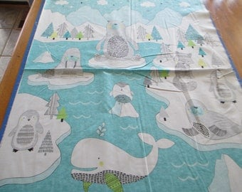 """Quilting Weight Cotton Fabric Polar Pals panel by Deborah Edwards for Northcott  1 panel 23"""""""