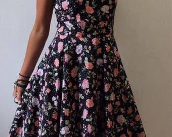 80s cotton garden party dress