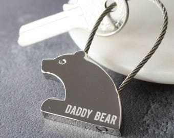 Mama Bear Keyring - Engraved - Mother Day - Fathers Day - Keyring - New Mother - Animal - Gift