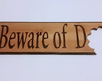 Humorous Dog Sign, Dog Wood Sign, Handmade Sign, Beware of Dog, Dog Lovers, Outdoor Wood Sign, Carved Sign, Dog Sign, Router carved
