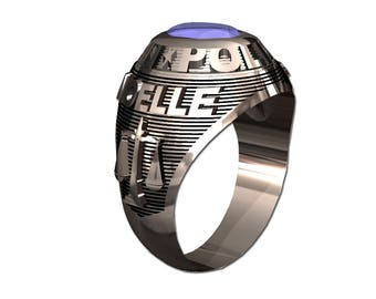 Ladies Police Ring, Sterling Silver