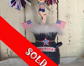 Miss Betty Boop USA 4th of July Centerpiece!