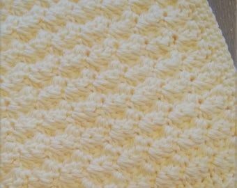 Set of 10 Handcrafted Washcloth in your choice of color - Soft Crocheted Washcloths - Cotton Facecloths