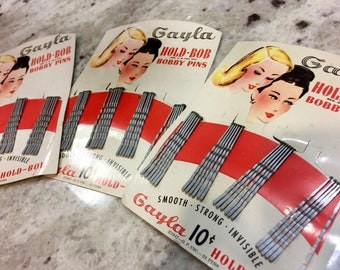 Vintage Antique Bobby Pins Hair Pins Gayla Pins 1940s