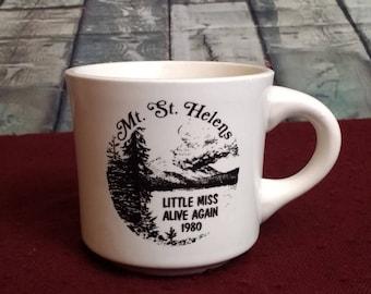 Mount Saint Helens vintage coffee mug, made in USA