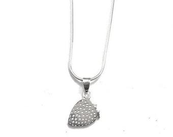 ON SALE Strawberry Charm In Sterling Silver
