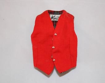 Vintage 1960s Ken Doll Red Vest