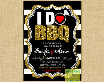 I Do BBQ Invitation, I Do BBQ Couple Shower, I Do BBQ Rehearsal Dinner invitation, Engagement bbq invitation, I do invitation, Couple shower