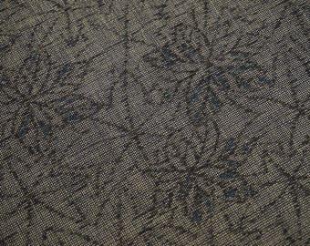 Vintage Japanese kimono fabric. Momiji mixed wool kimono fabric