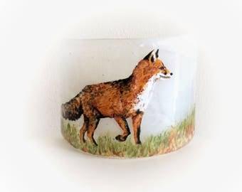 Decorative Fused Glass Fox Curve