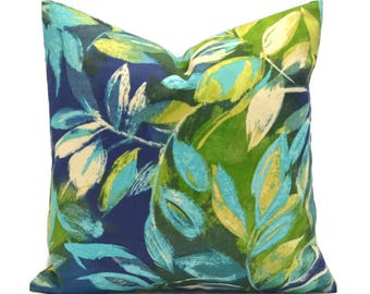 Outdoor Pillows Outdoor Pillow Covers Decorative Pillows ANY SIZE Pillow Cover Blue Pillow Navy Pillow Bryant Seabreeze Lagoon