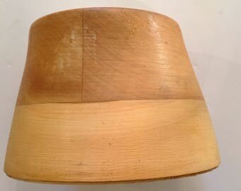 Wooden Stovepipe Hat Block (Crown)