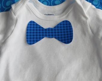 Iron on Bowtie fabric applique - Baby tee decoration - New Baby - Baby shower craft
