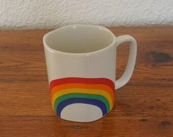 Vintage Ceramic Rainbow Coffee Mug