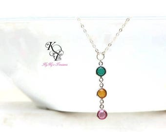 Customized Necklace Mothers Necklace Family Necklace Birthstone Necklace Mom Gift Grandmother Jewelry Birthstone Gifts Mothers Day Gift