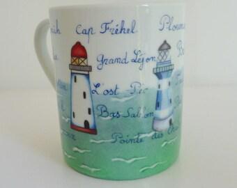 """Breton headlights"" porcelain mug"
