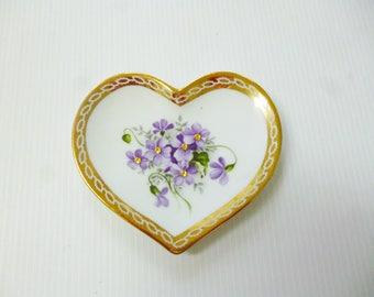 Small purple porcelain heart