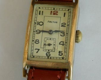 German gold plated watch Urofa 58 Glashutte Arctos