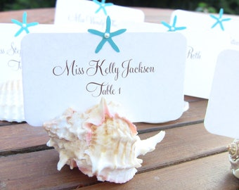 5 table number cards and 52 name placecards, PINK