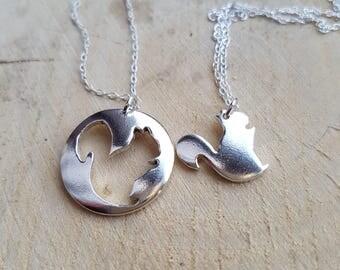 Squirrel Necklace, Silver Squirrel Pendant, Squirrel Charm, Woodland Jewellery, Animal Necklace