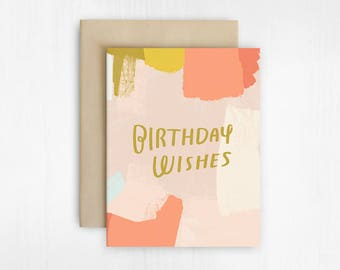 Abstract Birthday Wishes Card