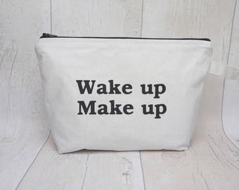 Slogan makeup bag/ travel bag/ wash bag