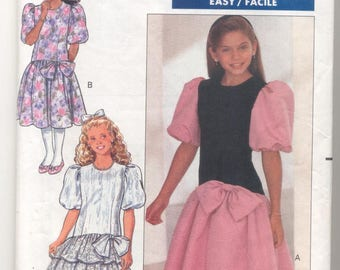 Butterick 4530 Girls Dress Vintage sewing pattern