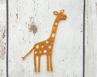 Felt Giraffe, die cut giraffes, felt die cuts, card making, diy crafts, felt zoo animal, party decor, nursery decor, embellishment, applique