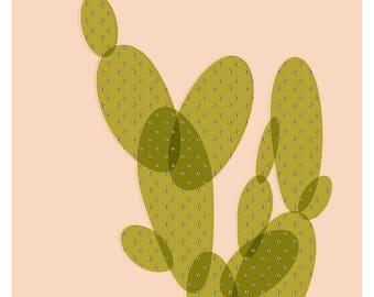 Mid Century Cactus Print