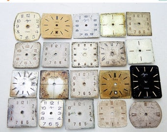 ON SALE Vintage Watch Faces - set of 20 - c89