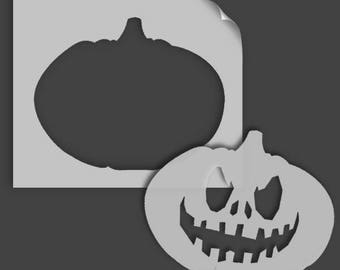 Halloween Decor, Pumpkin Stencil, Art Craft and Decorating Stencil, Painting, Various sizes, Reusable Mylar Stencils