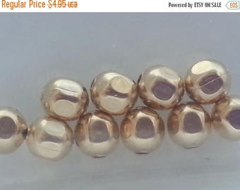 SAVE 20% 10 pieces 14k Gold Filled 4mm Faceted Faceted Round Beads