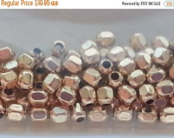 SAVE 20% 50  pieces 14k Gold Filled 3mm Faceted Round Beads MADE In THE Usa