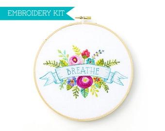 Embroidery Kit, Hand Embroidery Kit, Embroidery Pattern, Housewarming Gift, Wedding Gift, DIY Kit, Hoop Art, Supply Kit, Needle Craft Kit