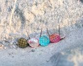 Fish Scale Earrings| Mermaid Earrings | Mermaid Tail Studs| Titanium Studs| Hypoallergenic Studs | Mermaid Tail | Ocean |