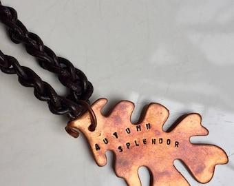 Autumn Splendor Copper Necklace