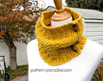 Crochet Pattern for Cowl, Winter Haven Collection, Toddler, Child, Adult PDF 17-343