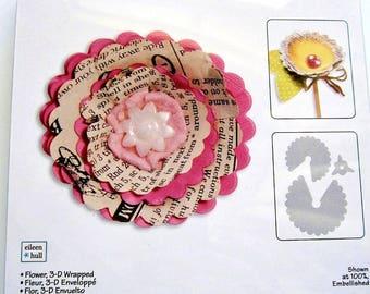 3-D Wrapped Flower Sizzix Bigz Die 657116 NEW