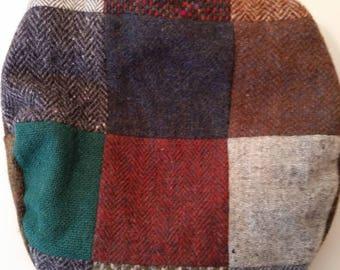 Vintage Men's Irish Tweed Cap Patchwork Wool/Tweed Made in Ireland by Hanna Hats Sz L 100% New Wool