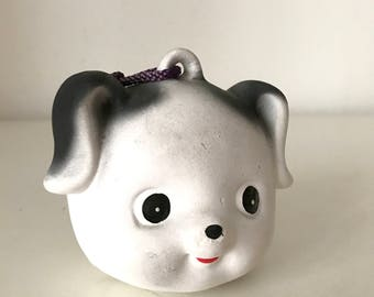 Japan traditional pottery bell - puppy
