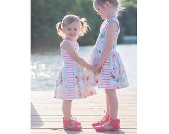 Vivienne Top, Tunic & Dress PDF Sewing Pattern Sizes 1/2-14