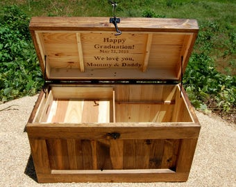 Personalized Hope Chest/Coffee Table/End of the Bed Bench /Wedding Chest