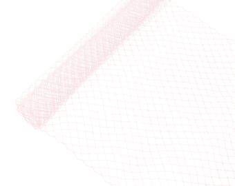 """1 Yard x 10"""" Light Pink Russian Millinery Birdcage Veil Netting - Available in 17 Colors"""
