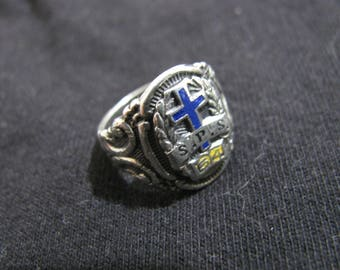 Catholic school sterling silver ring s.p.s 54 size 4 .5