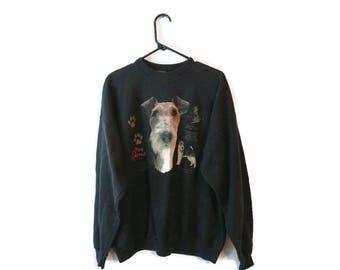 Wire Haired Terrier dog Sweatshirt size XL black