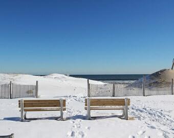 Lavallette Snow Bench