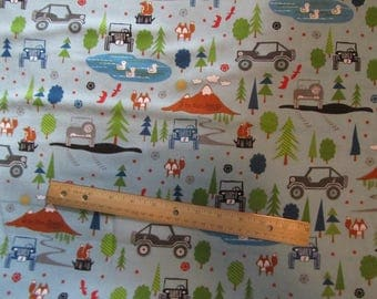 Blue J Is For Jeep Riley Blake  Flannel Fabric  by the Yard